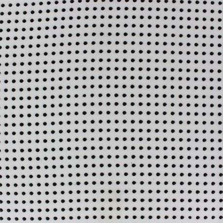 Flocked Dots Muslin Fabric - White x 50cm