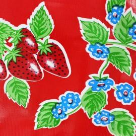 Oilcloth Fabric - Fresas red x 10cm