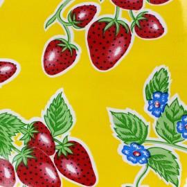 Oilcloth Fabric - Fresas yellow x 10cm