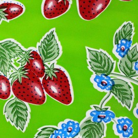 Oilcloth Fabric - Fresas green x 10cm