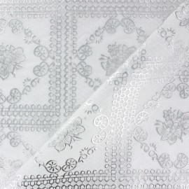 Vinyl lace tablecloth fabric - ornament x 11cm