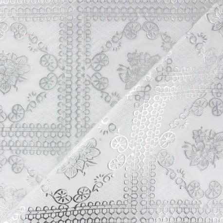 Cristal Dentelle Fleurs et ornements argent x 11cm