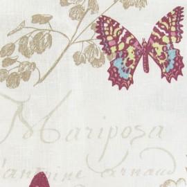 Tissu enduit  lin Butterfly écru x 30cm