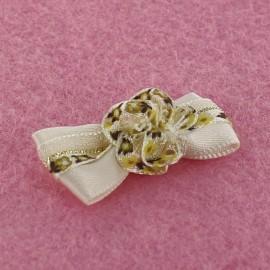 Motif Mini noeud à fleur & mini ruban Crème