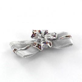 Motif Mini noeud à fleur & mini ruban Gris