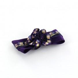 Motif Mini noeud à fleur & mini ruban Violet