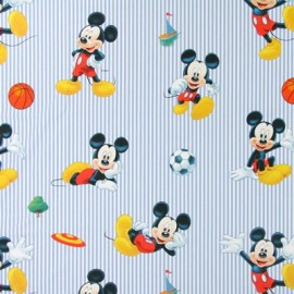 Tissu coton Disney Madshop bleu x 64cm