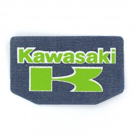 Kawasaki iron-on applique - green