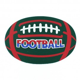 Football iron-on applique - green/red