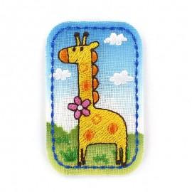 Childish Jungle animals, giraffe iron-on applique - yellow