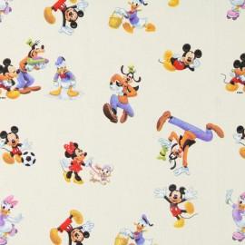 Tissu coton Disney Dwarfs crème x 32cm