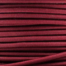 Fil élastique rond 3mm bordeaux