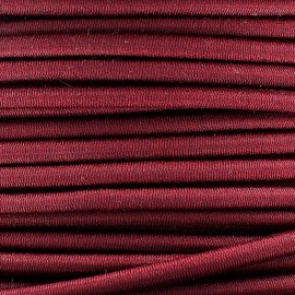 Rounded elastic thread 3 mm - burgundy