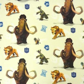 Cotton Fabric Iceage - Cream x 32cm
