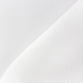 3D mesh quilted fabric - White x 10cm