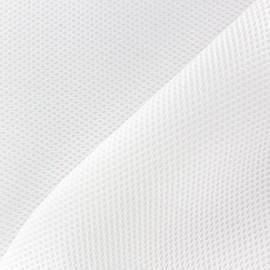 Tissu résille matelassée mesh 3D - blanc x 10cm