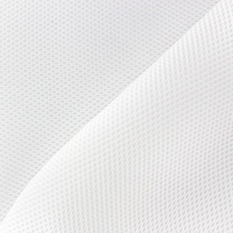 Fishnet quilted fabric - White x 10cm