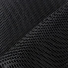 Fishnet quilted fabric - Black x 10cm