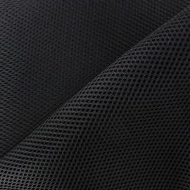 Tissu résille matelassée mesh 3D - noir x 10cm