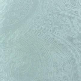 Tissu velours ras Bangkok Bleu dragée x 10cm