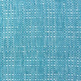Tissu Colombia fil chenille velours Bleu clair x 10cm
