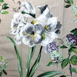 ♥ Coupon 320 cm X 180 cm ♥ Fabric Grande Lys - beige background