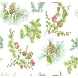 Tissu lin Foresta Blanc x 63,5 cm