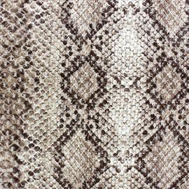 Tissu Reptile brun x 10cm