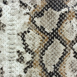 ♥ Only one piece 200 cm X 150 cm ♥ Fabric - Reptil beige