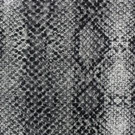 ♥ Coupon 180 cm X 150 cm ♥ Tissu Reptile gris