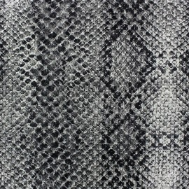 Tissu Reptile gris x 10cm