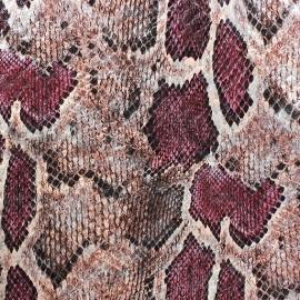 Tissu Reptile rose x 10cm
