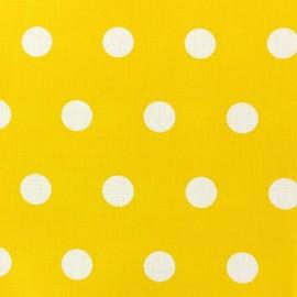 Tissu coton enduit Pastille jaune x 10cm