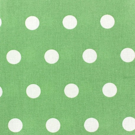 Coated Cotton Fabric - White dots on almond background x 10cm
