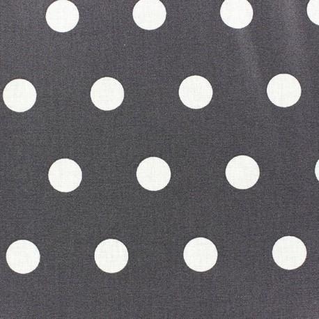 Tissu coton enduit Pastille Anthracite x 10cm