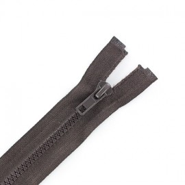 Synthetic separating zipper Eclair - brown
