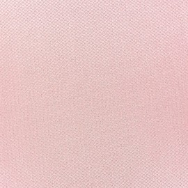 Pearl stitched cotton fabric - pink x 10cm