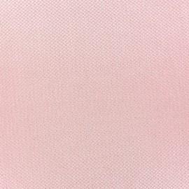 Tissu piqué de coton Perle rose x 10cm