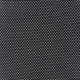 Tissu popeline stretch Mini Plane fond noir x 10cm