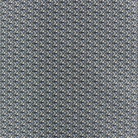 Un Mètre Coton Popeline avec Noir et Blanc Souris en diagonales sur gris moyen