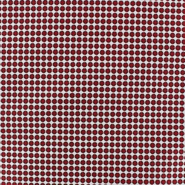 Tissu popeline stretch Small Circle fond Grenat x 10cm