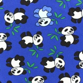 Tissu Jersey Panda bleu roy x 10cm