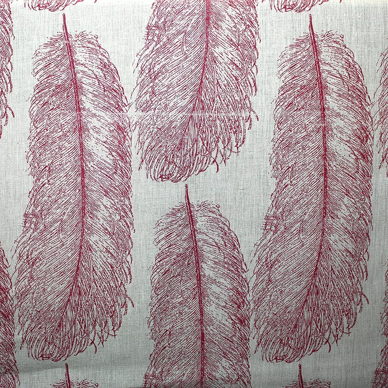 tissus pas cher tissu lin duvet plumes rouges x 64 5 cm. Black Bedroom Furniture Sets. Home Design Ideas