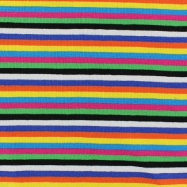 Tissu Jersey Rayures Colors bright x 10cm