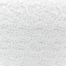 Lace ribbon Tulip - white
