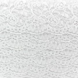 Lace ribbon Tulip - white