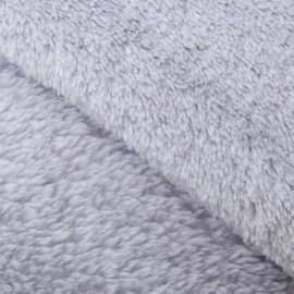 Tissu Doudou uni gris clair x10cm