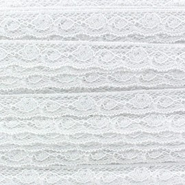 Lace ribbon Olivia - white