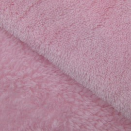 Baby's Security Blanket fabric - pink x 10cm