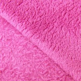 Tissu Doudou uni framboise x 10cm
